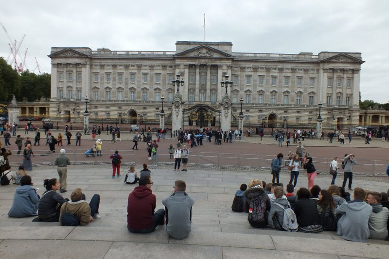 front of Buckingham Palace