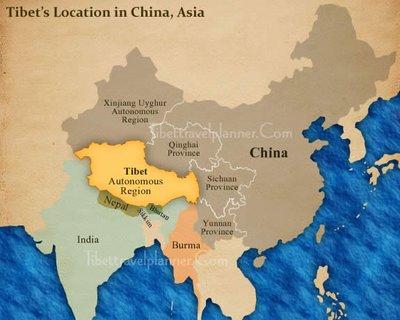 Where is Tibet & Nepal