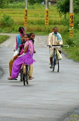 Rush hour in Nepal countryside
