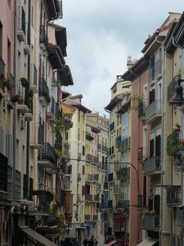 Cobblestone streets of Pamplona