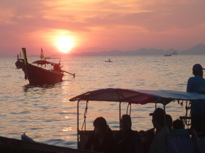 Sunset in Railay West Beach