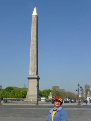 250413. The Egyptian Obelisk which signified the reign of Phraoh Rameses the second, presented to the French Govt in 19 century.
