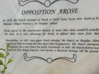 A bit of Perak history.