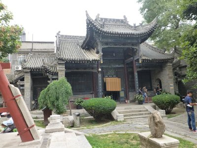 A part of the  building of Xi'an Great Mosque with traditional Chinese architecture.