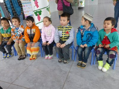 Adorable 3 year olds in Islamic class