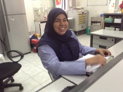 Aminah, the Malysian trained Hospital Administrator in Villingilis Island, Maldives