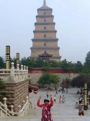 At Big Wild Goose Pagoda.