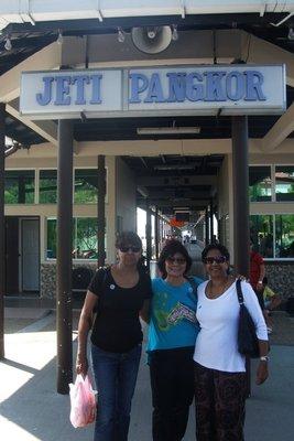 At Pulau Pangkor jetty with Padmini and Indra. 070713