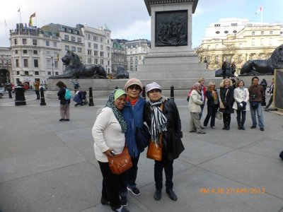 At Trafalgar Square London - no more pigeons. 270413