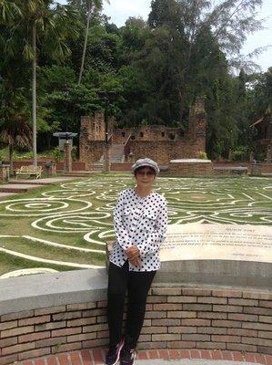 At the Dutch Fort, Pangkor Island.