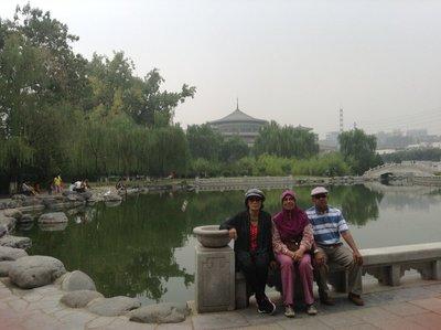 Beautiful Xi'an Museum garden.