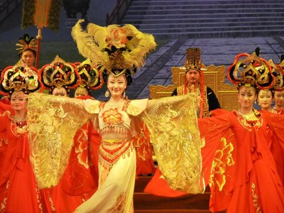 Colourful cultural show at Shaanxi Grand Opera House Xi'an, China. 220913