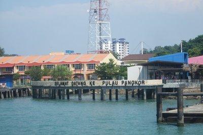 From the jetty ' Selamat Datang ke Pulau Pangkor' 070713