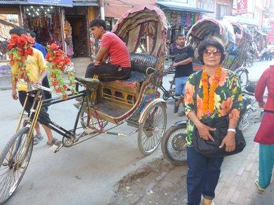 Just arriv in Katmandu