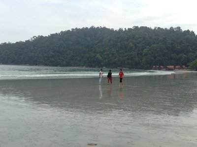 Low tide at Pangkor Island Beach Resort - a secluded and private hotel.