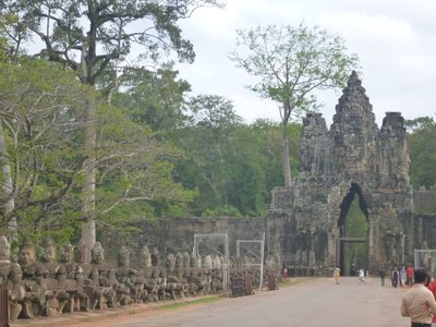 One of the gates to Angkor Thom