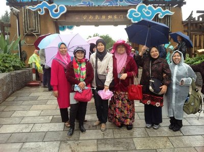 Some group members at Jingpo Village, Kunming.