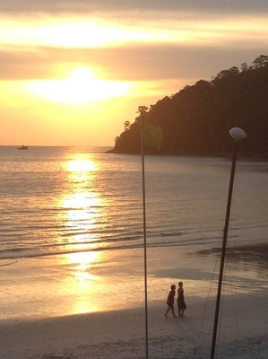 Sunset at Pangkor Island Beach Resort. 080713