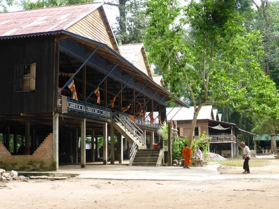 The Monastry  sheltering  old folks near the Bayon