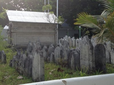 The big tombstones at Hukuru Miskiiy mosque yard