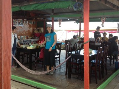 The lake Tonle Sap restaurant where we had our picnic lunch