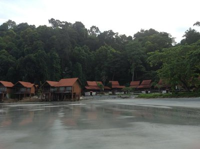 The secluded high end chalets by the beach nestled at the green forest.