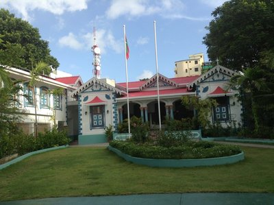 Very attractive unassuming President's Residence in Male, Maldives. 110813