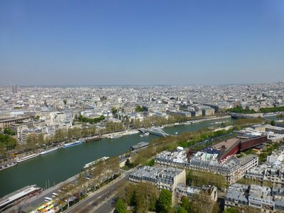 View of Paris from second floor of Eifell Tower. 250413