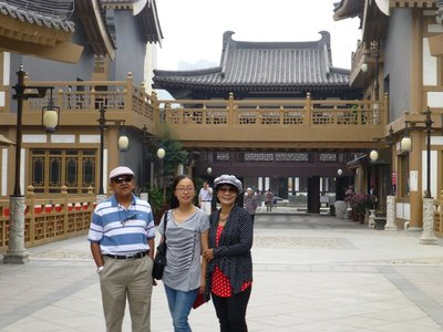 With Osman and May (the guide) at Tang West Market