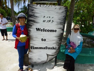 With Ramlah at Himmafushi Island, Maldives