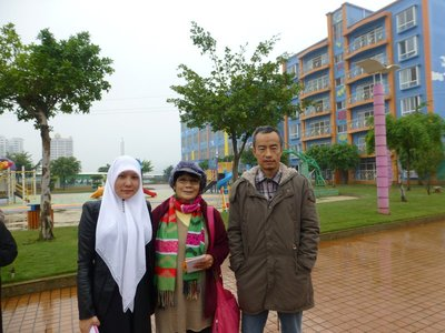 With Yusuf Mu and wife, Ma Yin Ni, the owner-founder of Nuler Kindergarten.
