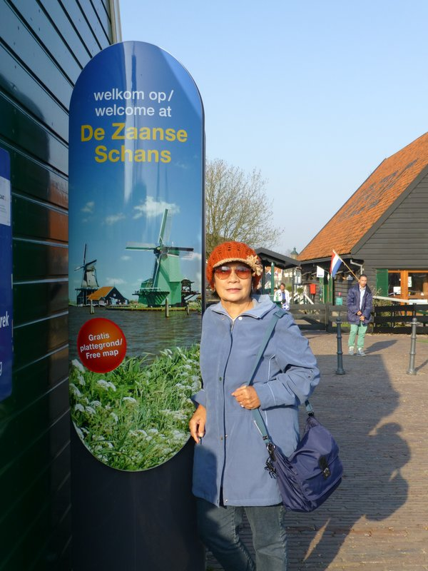 At entrance of Zaanse Schans village, Amstewrdam. 220413