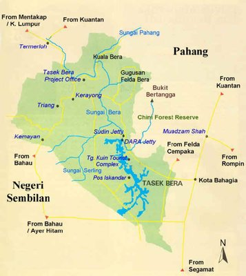 Map to Tasek Bera