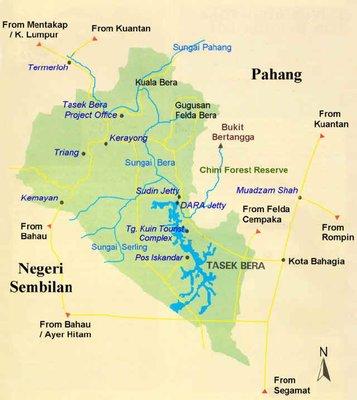 Map to Tasek Bera