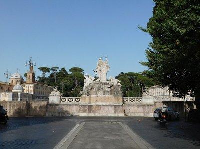 Back of Fontana del Nettuno - Piazza del Popolo - Italy - June 2016