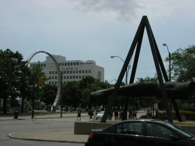 Joe Lewis Fist and The Workers Monument - Detroit