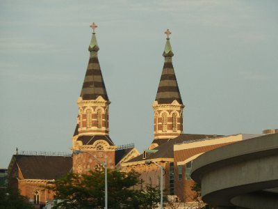 Old St. Mary's Catholic Church in Greektown - Detroit