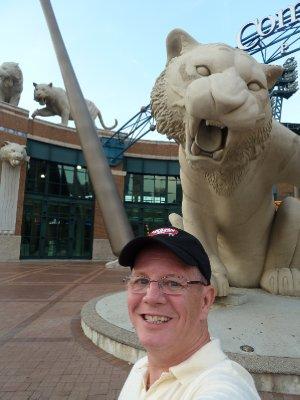 Larry at Comerica Stadium - Detroit Tigers (2)