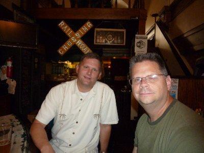 Mark and Scott at Grand Trunk Bar - Detroit