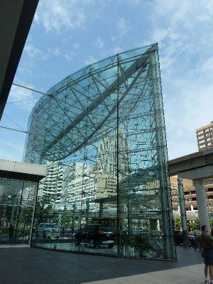 Outside the Renaissance Center - Detroit