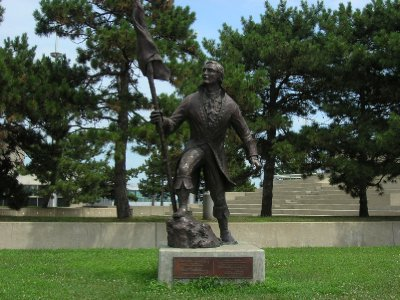 STATUE OF ANTONIE CADILLAC, FOUNDER OF DETROIT