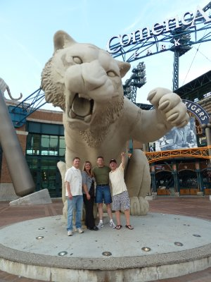 Scott Julie Mark and Larry at Comerica Park - Detroit Tigers