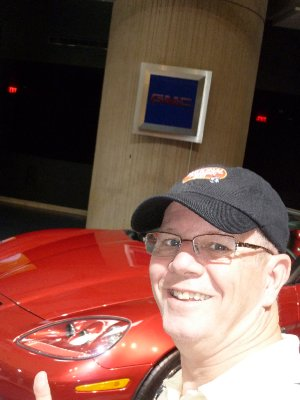That my car - Little Red Corvette - General Motors  Renaissance Center - Detroil
