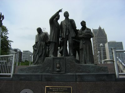 The Gateway to Freedom Memorial - Hart Plaza - Detroit