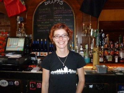 Very friendly bartender at Grand Trunk Bar - Detroit