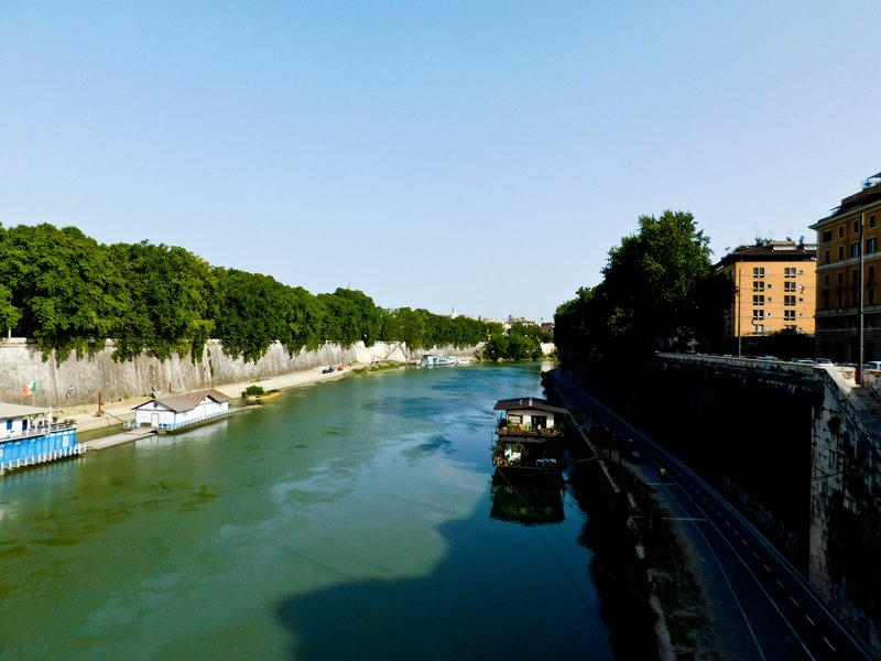 Tiber River - Rome - from Ponte Regina Magherita - June 2016a