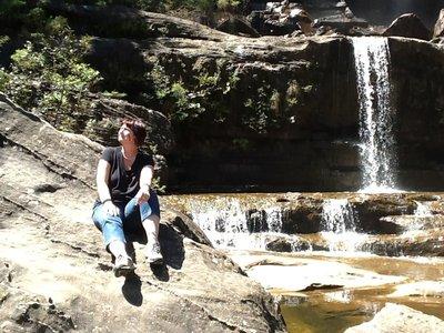 Zicht op de waterval
