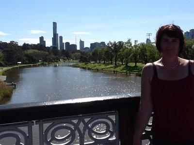 Zicht op de stad en de Yarra rivier