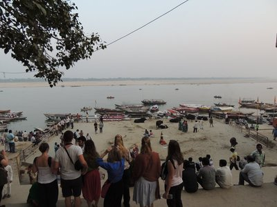Sunset boat ride on the Ganges