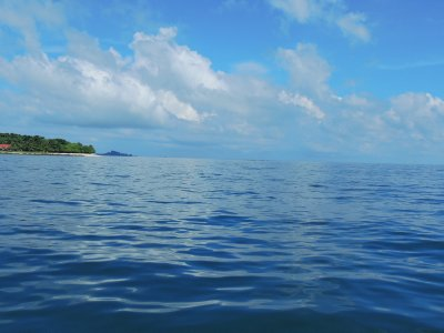 Boat ride to Turtle Island in Borneo